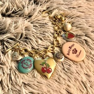 Juicy Couture RARE vintage fixed charm bracelet
